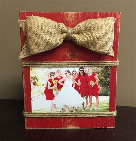 rustic shabby chic block frame picture holder home red rustic wooden photo block picture block shabby chic