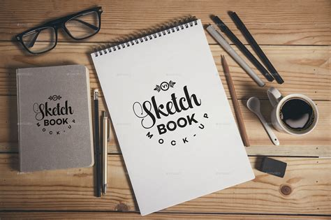 sketch mockup book free sketch book mockups by xepeec graphicriver