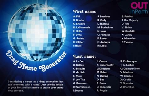 Random Name Generator For Giveaway - drag queen name generator outinperth gay and lesbian