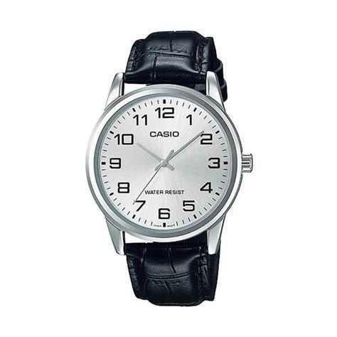 Casio Analog Jam Tangan Pria Kulit Mtp X100l Original jual casio kulit standard mtp v001l 7b jam tangan pria