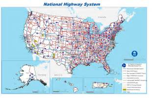 map of united states with cities and highways alliance for toll free interstates