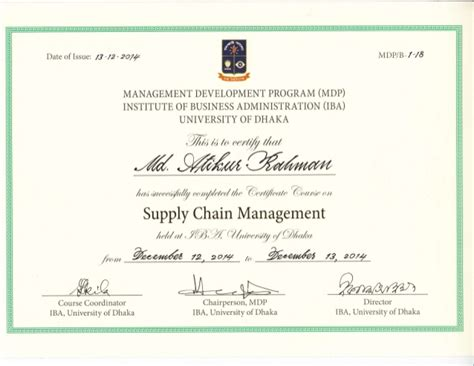 Mba Operations Management Degree by Iba Certificate
