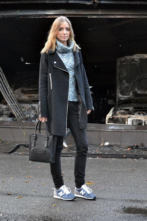 Nena Oversized Jacket nena f asos coat zara bag new balance sneakers blues lookbook