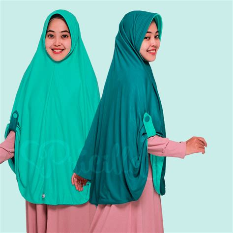 Original Jilbab Bolak Balik Pricilla 2 In 1 Instan Khimar jilbab pricilla aira 2in1 green tea a13 indogamis
