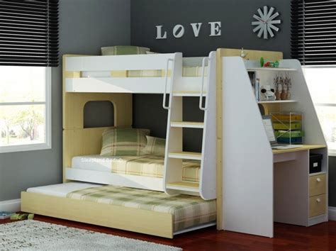 Solid Pine Bunk Bed With Desk by Luxury Solid Pine Wood Bunk Bed With Guest Bed