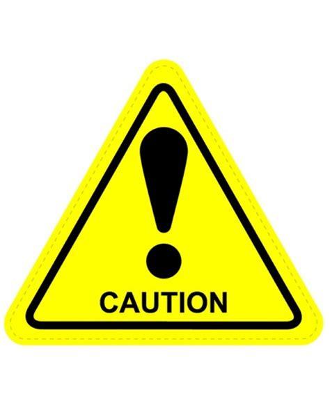 warning sign caution warning sign sticker