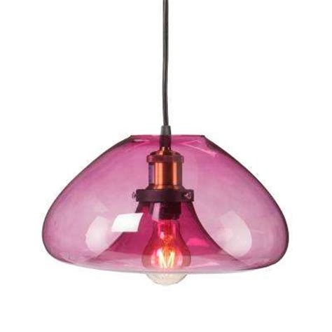 Pink Glass Pendant Light Pink Pendant Lights Hanging Lights The Home Depot
