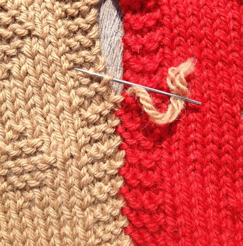 joining knitting together slip stitch used to sew knitting together knitting with