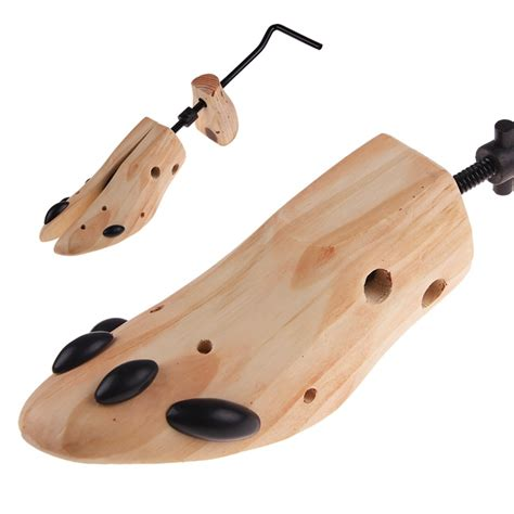 newest professional wooden adjustable 2 way shoe