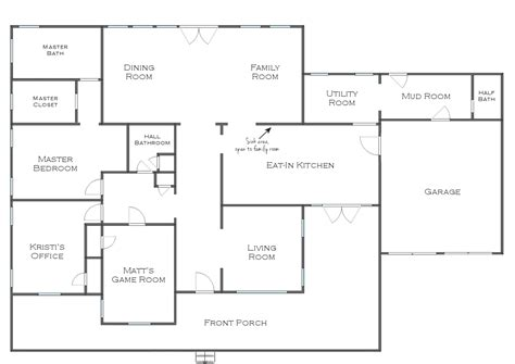 floor plans with measurements simple house plan