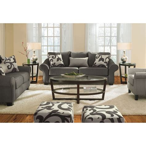 vcf sectionals 500 colette upholstery 3 seat gray herringbone sofa with
