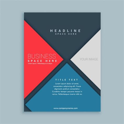 modern brochure template vector free