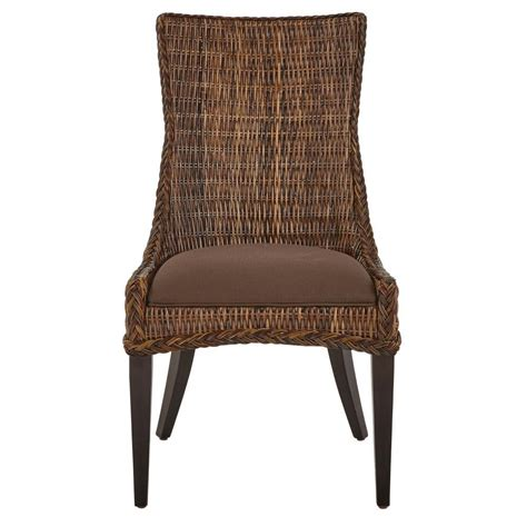 home decorators dining chairs home decorators collection genie brown weave wicker dining