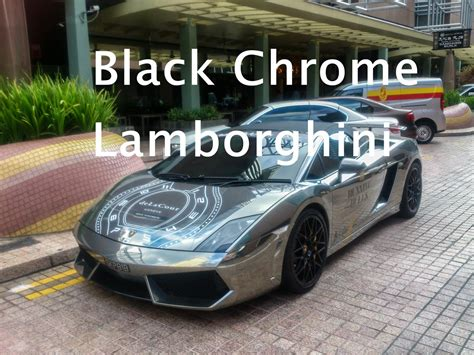 black chrome lamborghini black chrome lamborghini gallardo