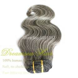 salt and pepper in hair extentions 100 human brazilian virgin hair extensions gray hair