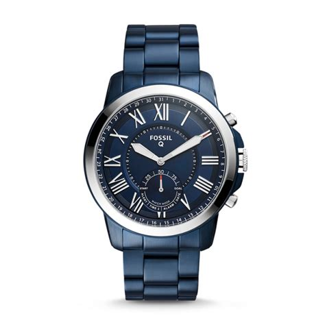 Fossil Fs0103 Navy Blue hybrid smartwatch q grant navy blue stainless steel fossil