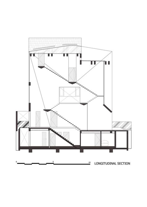Longitudinal Section Architecture by Folding Wall House Nha Dan Architect Archdaily