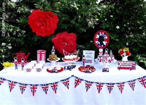 a british inspired london uk party with printables party