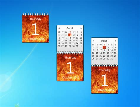 Calendar Desktop Gadget Calendar Gadget Windows 7 Desktop Gadget
