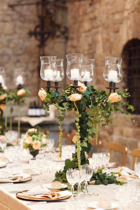 110 Best Glass And Candles Images On Pinterest Table Italian Wedding Centerpieces