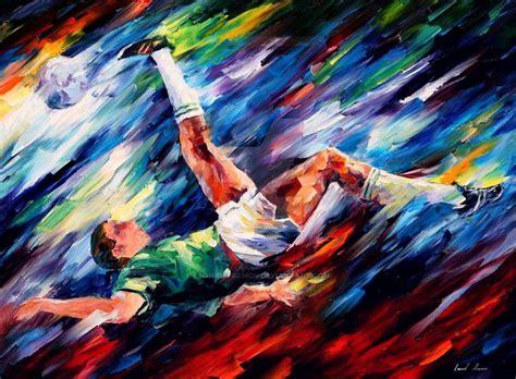 soccer painting soccer by leonid afremov by leonidafremov on deviantart