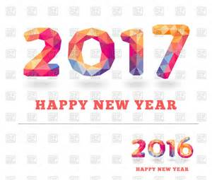 happy new year 2017 and 2016 greeting card vector clipart image 127065 rfclipart
