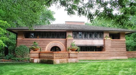 Frank Lloyd Wright Inspired House Plans by Prairie Style