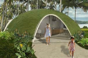 colorful binishell dome homes made from inflatable