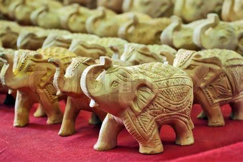 Handcraft Woodworking - handcraft wood elephant sculptures stock photo colourbox