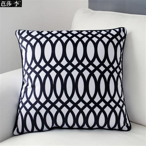 White Patterned Cushions | aliexpress com buy h3143 modern design geometric