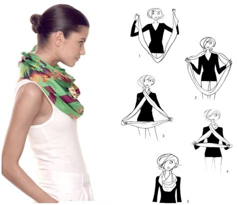 cute ways to wear a scarf with short hair biker how to tie a scarf herm 232 s scarf knotting cards double