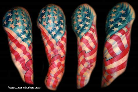 american flag tattoos sleeves my designs american flag tattoos