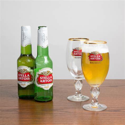 Set Stela stella artois chalice glass 11 oz set of 2