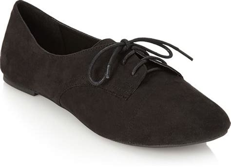 forever 21 oxford shoes forever 21 faux suede oxfords in black lyst