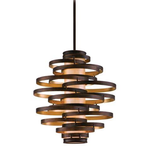 corbett lighting 113 43 bronze with gold leaf vertigo 3