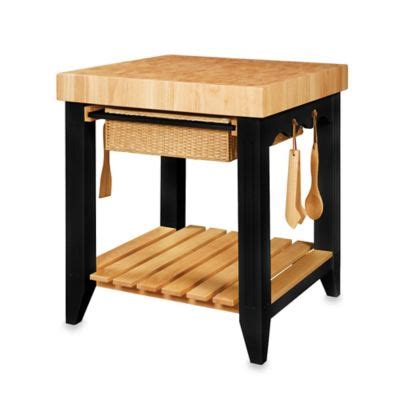 powell color story black butcher block kitchen island buy butchers blocks from bed bath beyond