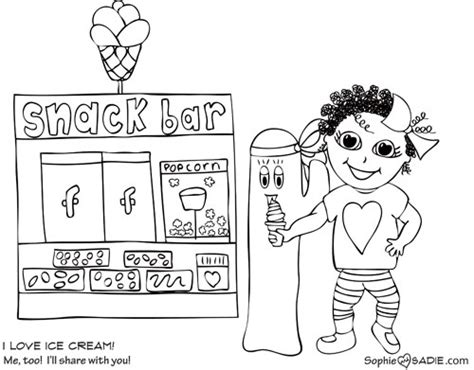 click here for ice age coloring pages kid crafts ice cream sophie and sadie