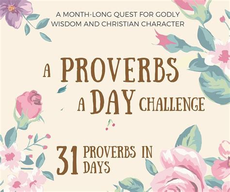 proverbs challenge 17 best images about let there be on