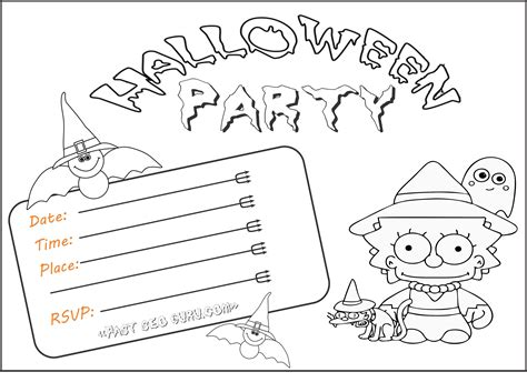 printable halloween invitations to color printable halloween party invitations for kidsfree