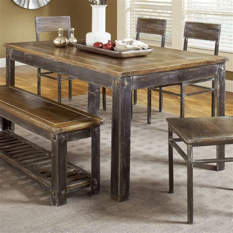 Farmhouse Table And Bench Set modus furniture 5m4761 farmhouse dining table atg stores