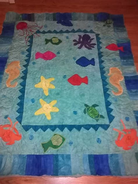 Theme Quilt by Underwater Check Out These Stunning Sea Themed