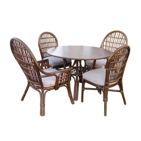 dining table and wicker chairs vintage rattan dining table and chairs ebay
