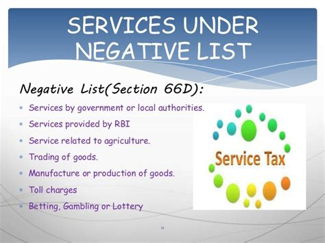 service tax sections list grp 6 service tax presentation at chinmay tutorials