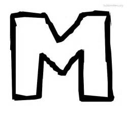 free coloring pages of letter m writing