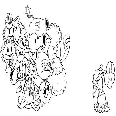 imagenes para colorear de plantas vs zombies imagui dibujos para colorear de plantas contra zombies para imprimir