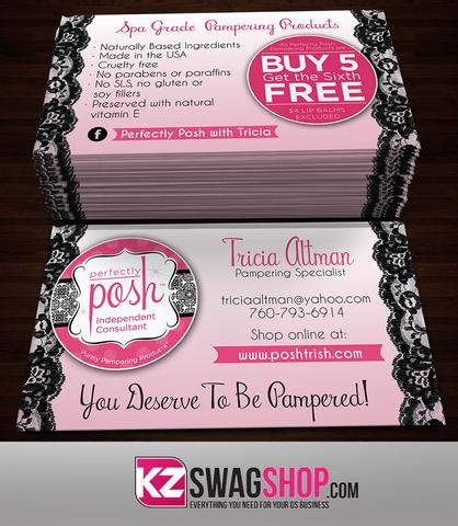 posh business card template perfectly posh kz swag shop