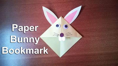 How To Make Rabbit From Paper - how to make a paper bunny rabbit bookmark