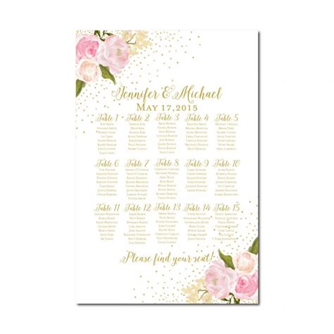 Wedding Seating Chart by Wedding Seating Chart Rustic Wedding Floral Wedding