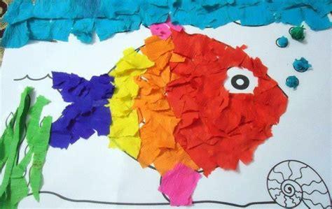 How To Make Paper Collage - basteln mit krepppapier mit kindern ideen f 252 r geburtstag