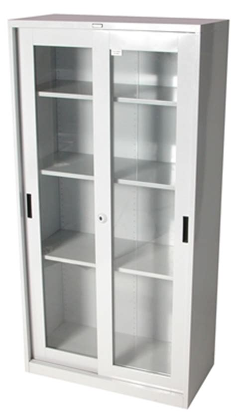 STEELCO GLASS SLIDING DOOR CUPBOARD 1830H X 914W X 465D 3